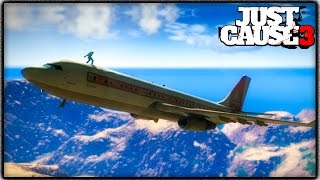 Just Cause 3 CARGOPLANE GAMEPLAY! Crazy Stunts, Where to Find & More! (JC3 Funny Moments)