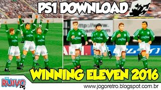 World Soccer Winning Eleven GES 2016 no Playstation 1 / PS1
