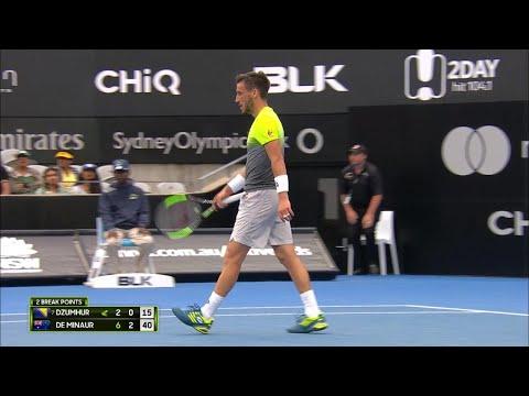 Alex De Minaur v Damir Džumhur Match Highlights (R2) | Sydney International 2018