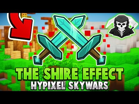 THE SHIRE EFFECT + EPIC 1v2 FIGHT! ( Hypixel Skywars )