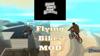 GTA San Andreas CLEO Flying Bikes MOD.