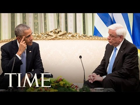 Obama Tries To Reassure Greece & Its President About Future Of NATO | TIME