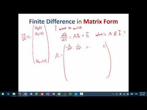 MIT Numerical Methods for PDE Lecture 1: Finite difference solution of heat equation
