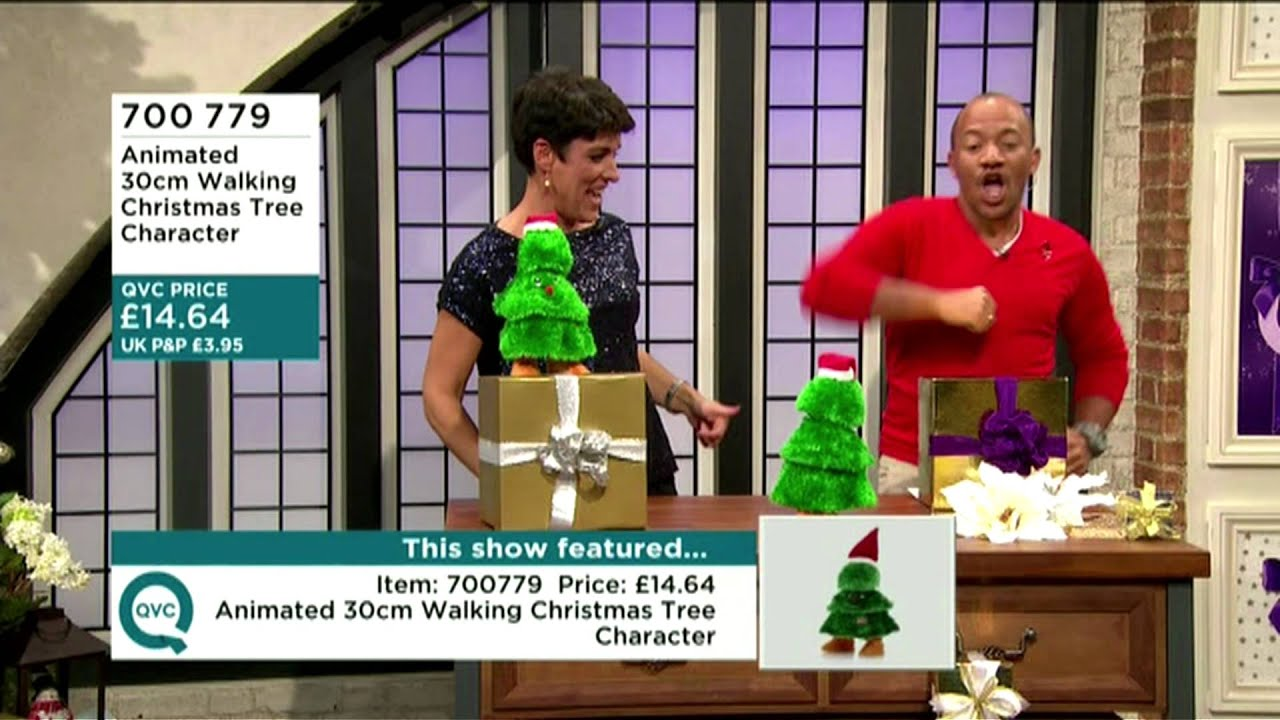 QVC - Craig Rowe Dances with a Christmas Tree! - YouTube