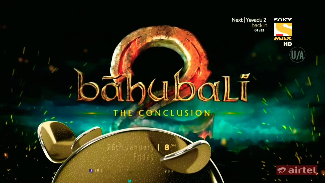 Bahubali 2 | 4th Time On Television | Sony Max | Teaser | HD Lounge