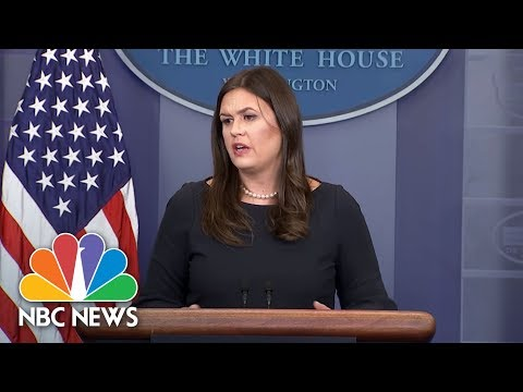 White House Defends President Trump's Comments On NFL Players   NBC News