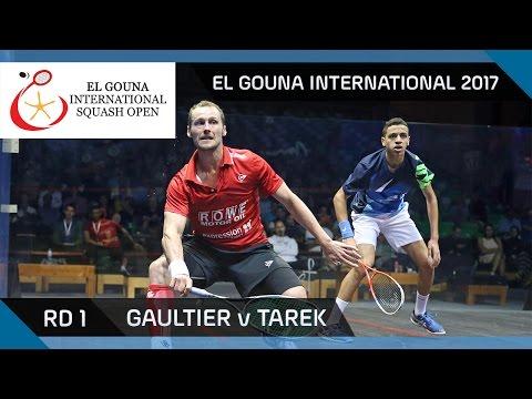 Squash: Gaultier v Tarek - El Gouna International 2017 Rd 1 Highlights
