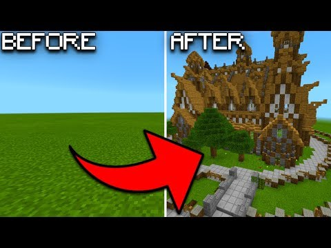 INSTANT HOUSES MOD In Minecraft PE (How To Spawn Houses Instantly)