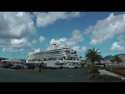 walking from Havensight Mall to the cruise ship dock in Charlotte Amalie, St. Thomas