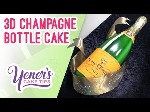 3D CHAMPAGNE BOTTLE CAKE Tutorial | Yeners Cake Tips with Serdar Yener from Yeners Way