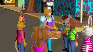 Hot Cross Buns Hot Cross Buns Rhyme -3D Animation English Rhymes & Songs for children