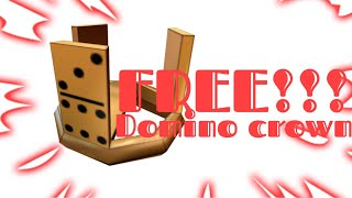 How to get a free domino crown in ROBLOX!