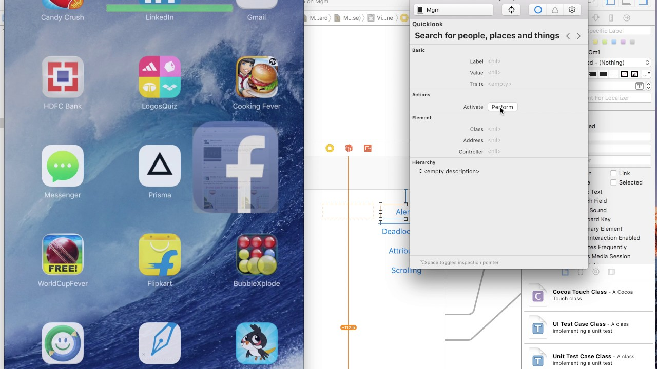 Appium v1 6 0 - How to inspect iOS element using Xcode accessibility