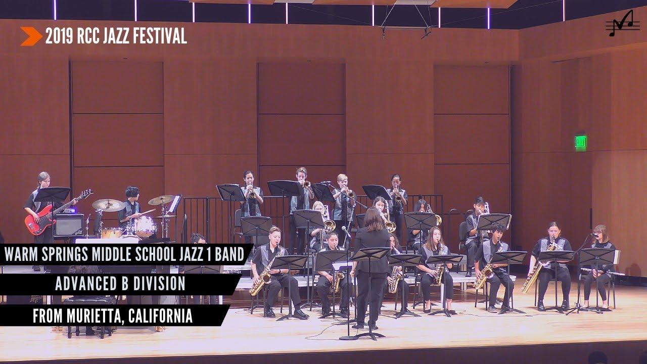 Warm Springs MS Jazz 1 Band   2019 RCC Jazz Festival