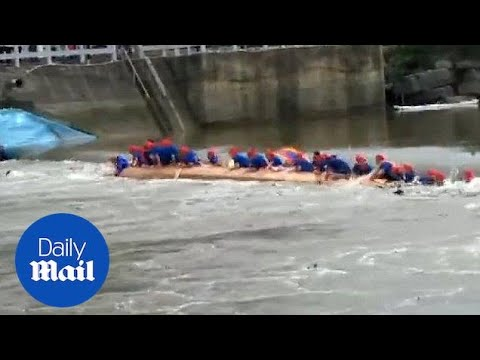 17 dead after freak dragon boat river disaster in Southern China - Daily Mail