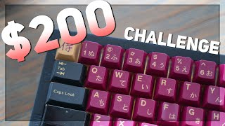 $200 Custom Keyboard Challenge! | ft. Glarses & Hamaji neo