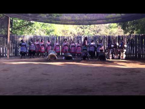 Traditional dance of Swazi village