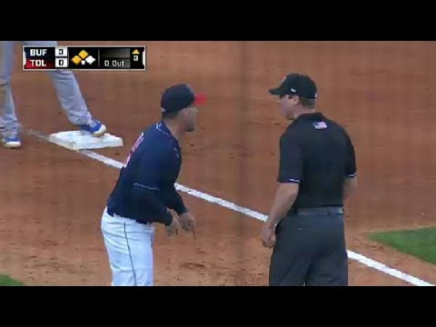 Toledo's Mientkiewicz is ejected from the game