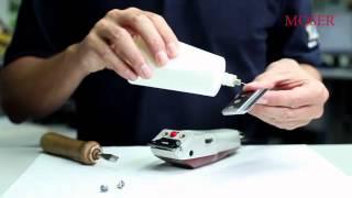правильная чистка и смазка лезвий для машинки Moser 1400