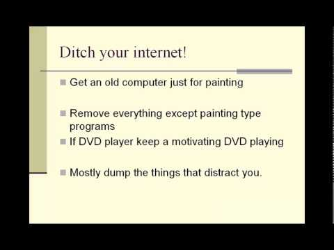 Painting Motivational tip