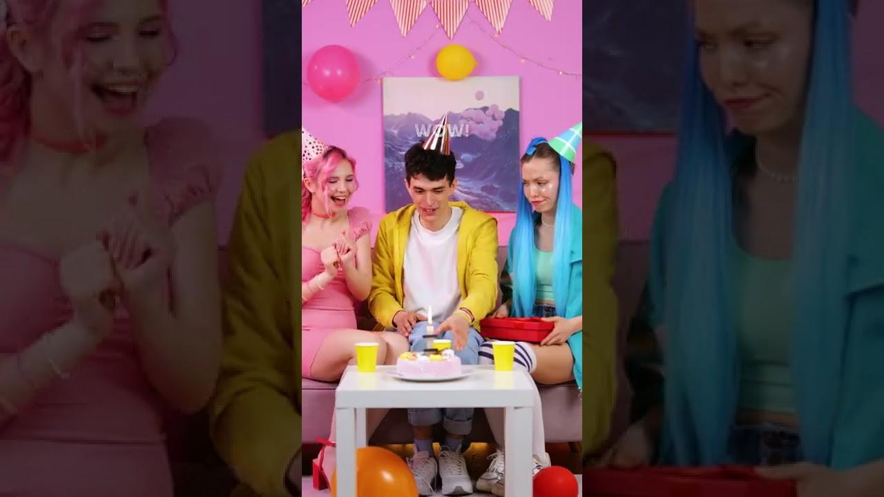 BIRTHDAY PRANK FROM TIKTOK GIRLS ??? || #SHORTS