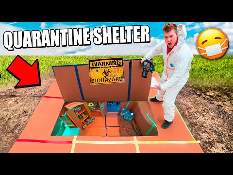 24 Hour Quarantine Box Fort Shelter Challenge!