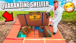 24 Hour Quarantine Box Fort Shelter Challenge!