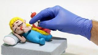 Baby Superhero sleeping 💕 Play Doh Stop motion cartoons