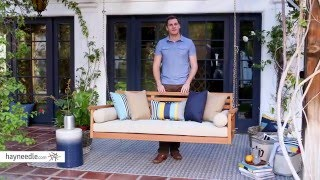 Belham Living Cari Bay Deep Seating Porch Swing Bed with Cushion - Product Review Video