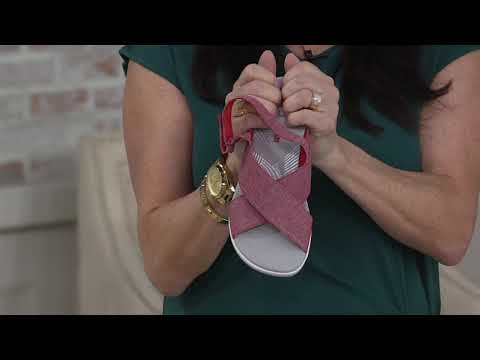 CLOUDSTEPPERS By Clarks Adjustable Sandals - Arla Kaydin On QVC