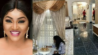 Nollywood Actress Mercy Aigbe Shows Off The Beautiful Living Room Of Her Newly Built Mansion