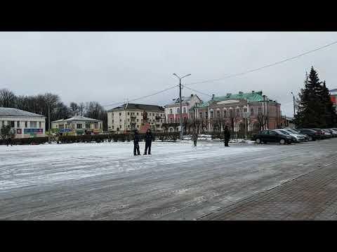 12 02 2020 г  Рославль  Центральная площадь перед приездом смоленского руководства!