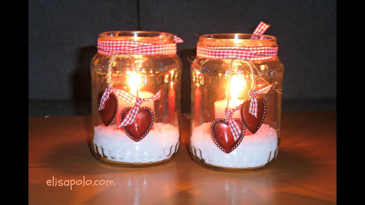 Manualidades para san valentin portavelas corazones - Decoraciones san valentin ...