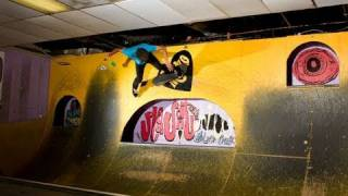 Mini Ramp Skateboarding Part 2- Nbd Tricks Inside Metro's Milk & Cookies Ii