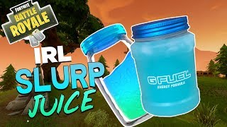 FORTNITE SLURP JUICE IN REAL LIFE (GFUEL Battle Jar)