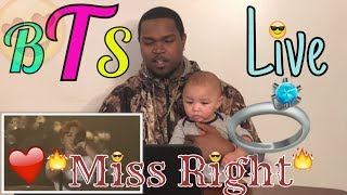 Video BTS 화樣연華 On Stage - MISS RIGHT REACTION download MP3, 3GP, MP4, WEBM, AVI, FLV Mei 2018