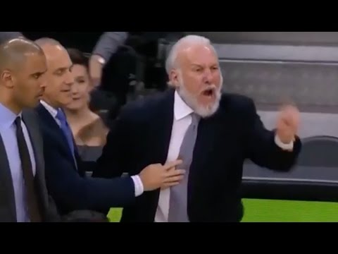 """Gregg Popovich Yells: """"You're a Terrible Referee,"""" Gets Ejected TWICE in the Same Game"""