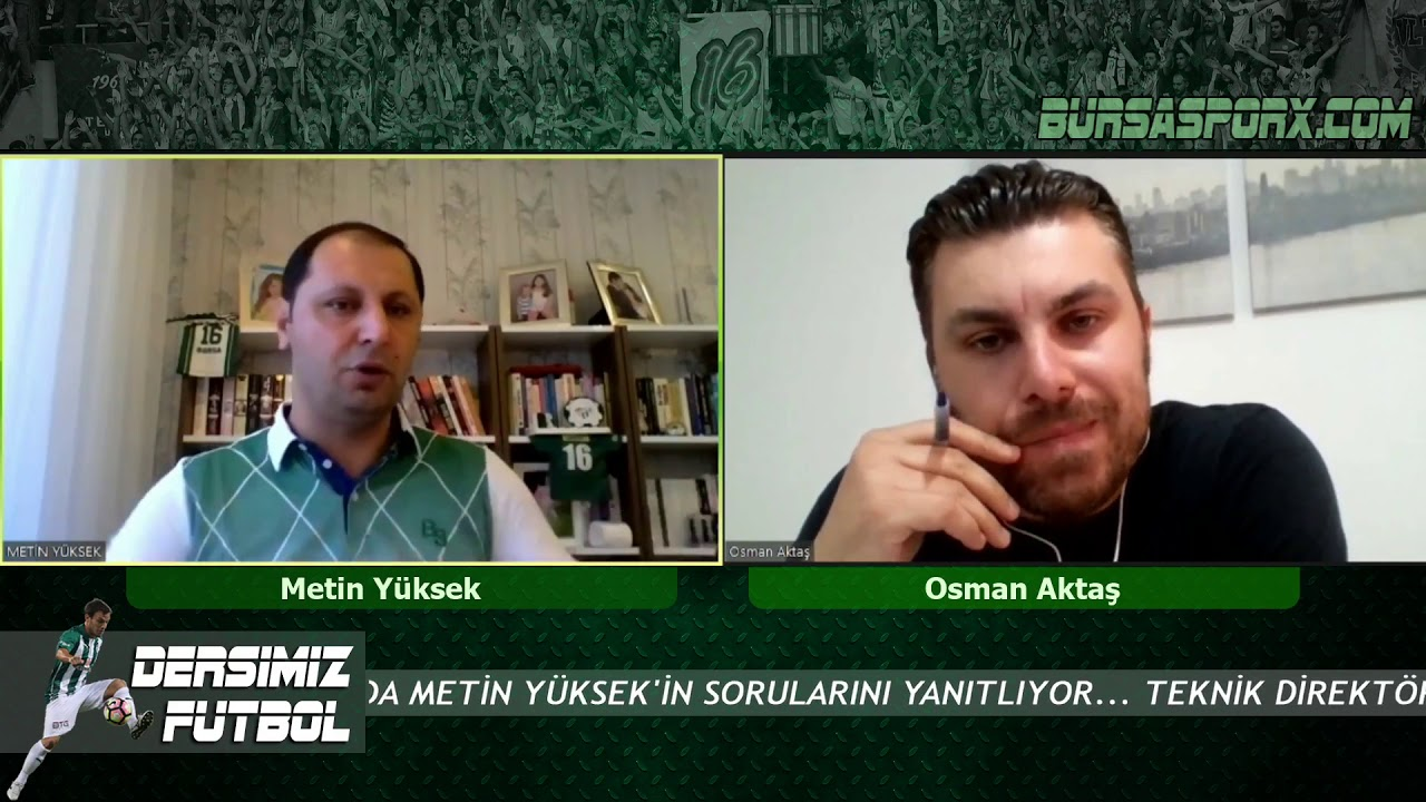 Teknik Direktör Osman Aktaş, Metin Yüksek'in sorularını yanıtladı
