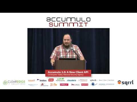Accumulo 2.0: A New Client API