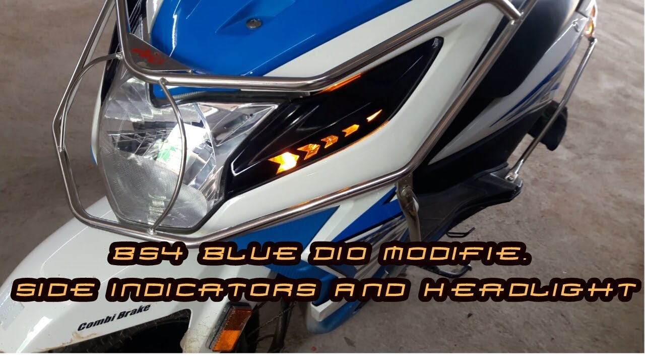 🔥blue dio modifie side indicators and headlight🔥
