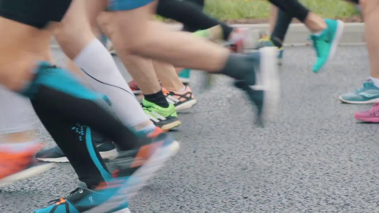 kazan russia kazan marathon crowd of sportsmen runners at ...