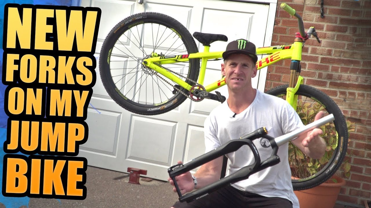 Fitting New Forks On My Dirt Jump Bike Youtube