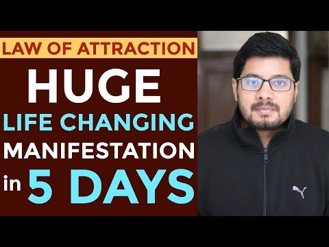 MANIFESTATION #88: HUGE Manifestation in Only 5 Days | How Does Law of Attraction Work?
