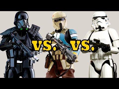 Death Trooper vs. Shoretrooper vs. Stormtrooper - Armor Comparison and Analysis