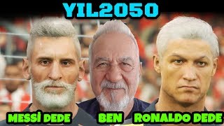 YIL 2050! MESSI DEDELER VS RONALDO DEDELER! 11 VS 11 PES 2019 MAÇI!