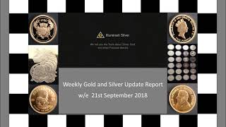 Gold and Silver weekly Update – w/e 21st September 2018