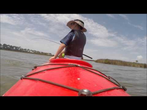Apalachicola bay kayak fishing 2015 7 1 emory youtube for Apalachicola fishing report