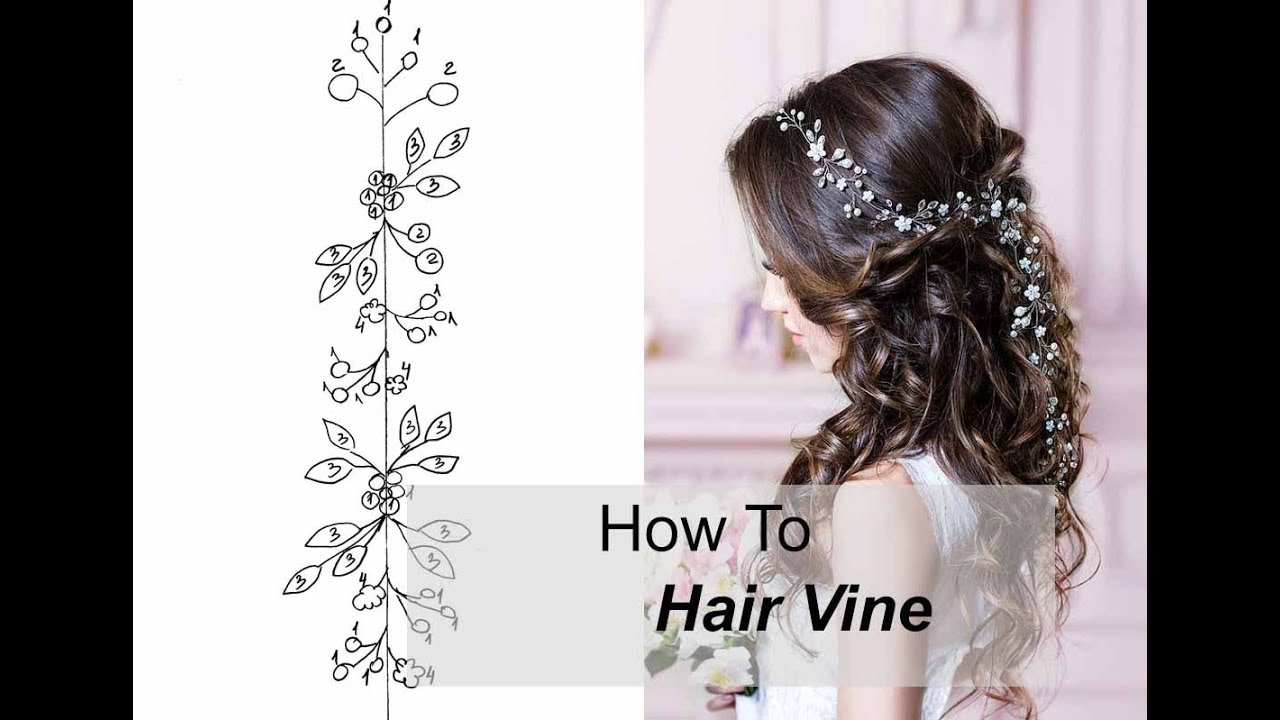 How to Make Long Hair Vine With Flowers Leaves - Easy DIY Hair ...