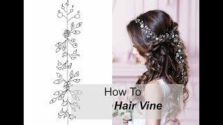 How to Make Long Hair Vine With Flowers Leaves - Easy DIY Hair Accessory Hair Comb, Tiara, Headband