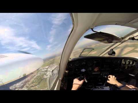 Smooth landing on the PA34 Seneca